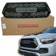 Grille Fit For Toyota Tacoma Trd Pro 2016 2021 Insert Toyota Letter Oem Genuine
