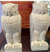 Rare Art Deco Library Of Congress Whimsical Owl Bookends