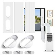 Dual Hose Portable Air Conditioner Window Kit With 2-in-1 2 Flat Mouth