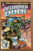 1982 Eclipse Destroyer Duck Comic Book 1 - 1st Groo Appearance Nm