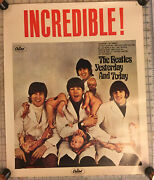 The Beatles Original Yesterday And Today Rare Vintage Butcher Cover Promo Poster