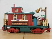 1995 New Bright Holiday Express Animated Train Santaand039s Toy Shop Caboose