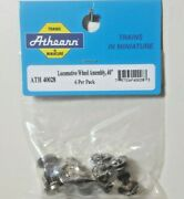 Athearn Ho Locomotive Wheel Assembly 40 With Gear - Package Of 6 Item 40028
