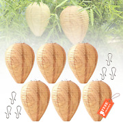 6pcs Waterproof Wasp Nest Decoys Safe Hanging Fake Wasp Deterrents Nest With 6 H
