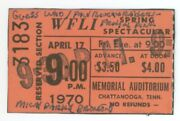 The Guess Who Paul Revere Frigid Pink 4/17/70 Chattanooga Tn Ticket Stub
