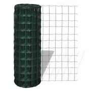 Euro Fence Pvc Coated Steel Mesh Wire Poultry Farm Fencing Cage Screen 25x0.8m