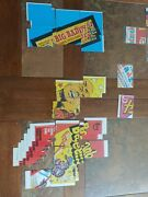 1973-1975 Vintage Topps Wacky Packages Checklists 66 Pcs Only 2 Have Writing