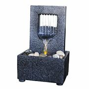 Raining Spout Led Relaxation Water Fountain With Authentic River Rocks 10063