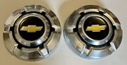 Pair 2 1969-75 Chevy C10 Truck Dog Dish Hubcaps 10-1/2 1973 1975 Stainless 74