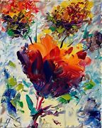 Flowers Still Life Oil Painting Impressionism Texture Modern Collectable