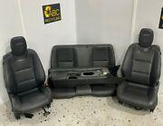 2011 Chevy Camaro Ss Front And Rear Seat Set W/floor Console Auto Black Leather Ls