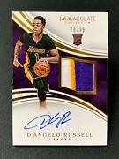 2015 Panini Immaculate Dand039angelo Russell Lakers Rpa Rookie Patch Auto /99