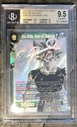 2018 Son Goku Hope Of Universe 7 Spr Bgs 9.5 Gem Mint .5 Away From Pristine