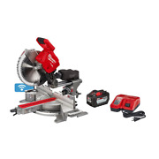 Milwaukee Compound Miter Saw Kit 18-volt Lithium-ion Dual Bevel Positive Stops
