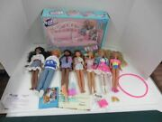 Vintage Hasbro Maxie Dolls And Day Dreaming Bed Clothes Shoes Accessories Lot