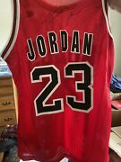 Michael Jordan Signed Champion Jersey Authenticated By Sports Card Gallery