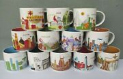 Lot Of 12 Starbucks You Are Here 14 Oz. Coffee Mugs