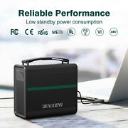 166wh Solar Generator Power Station Supply Energy Storage Usb Ac/dc Quick Charge