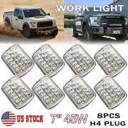8x 5x7andquot 7x6 Inch 45w Led H4 Hi/lo Beam Headlight Work Light For Ford Escape