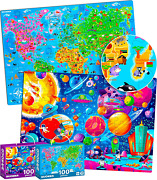 100 Pieces Jigsaw Puzzles For Kids Ages 4-8 By Quokka – Big Floor Puzzles For –