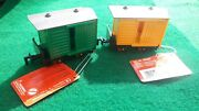 Pair Of Rare Vintage Lehmann Gnomy Railway Box Wagons From West Germany
