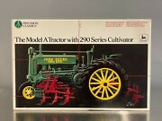 John Deere Model A Tractor With 290 Series Cultivator 1/16 Scale Replica Toy