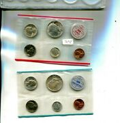 1964 P And D United States 10 Coin Mint Set No Envelope 7091p