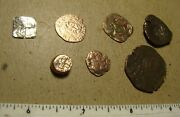 1500s Spain Spanish Coins Treasure Of 8 Pieces Metal Detector Finds