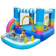 Kids Inflatable Bounce Houses Jumper With 350w Blower Small Ball Pit Water
