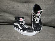 Off The Wall High Tops Size Man 4.0 Women 5.5 Black White Shoes