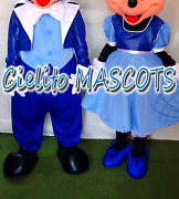 Only Clothing Not Including Head Blue Mickey And Minnie Mascot Mouse Costume