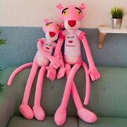 60-130cm Pink Panther Plush Toys Cute Stuffed Animal Doll Gift Doll With Sweater