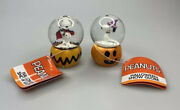 Peanuts Halloween Mini Snow Globes Witch And Vampire Nwt