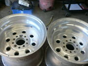 Pair Of Used 15x12 Weld Racing Wheels 5 On 4 1/2 And 5 On 4 3/4