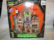 Lemax Spooky Town Halloween Retired- Little Monsters School House 2010 Rare