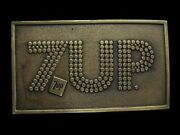 Na31173 Nos Very Cool Vintage 1976 7up W/ Built In Bottle Opener Buckle