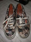 Off The Wall Mens Size 4.5 Wmns 6 Print Of Multiple Cats Low Skate Shoes