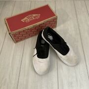 Off The Wall Old School Sneakers Menandrsquos Size 11 Black /white Canvas
