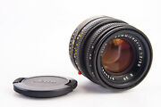 Leica Summicron-m 50mm F/2 E39 Type 5 Black Prime Lens With Cap For M Mount V18