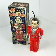Hard To Find Irwin Man From Mars Space Wind-up Walking Robot With Box