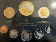 Canada 2009 Proof Set - 8 Coins - With Gold Plated Dollar