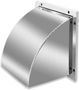 External Extractor Wall Vent Cap, 8 Inch Square External Ventilation Cover - Sta