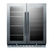 Summit Swbv3067 Stainless Steel 30 Built-in Dual Zone Wine And Beverage Center
