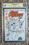 Young Avengers 1 Wizard World La Sketch Variant - Ss Cgc 9.8