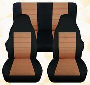 Front And Rear Car Seat Covers Fits Ford F150 Truck 1997 To 2003 Black And Tan