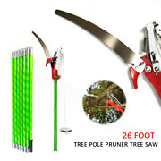 26 Ft Length Tree Pole Pruner Saw Garden Tools Loppers Hand Saws Equipment Tool