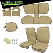 14pc Waterproof Car Seat Cover 5-seats Full Set Protector Interior Beige Quality