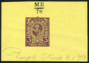 1911 3d Hentschel Essay Second Proof In And039purpleand039 Winston Ink No.66 And Mander