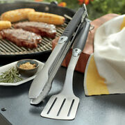 Weber Original Portable 2-piece Stainless Steel Tool Set -2day Delivery