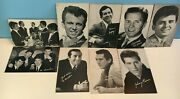 1950's Hollywood Male Singers 9 Arcade Exhibit Card Lot With Bios -nice